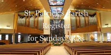 September 26/27 Sunday Mass Registrations tickets