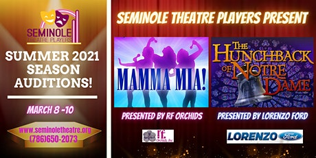 "Auditions for Disney's ""The Hunchback of Notre Dame"" and ""Mamma Mia!"" tickets"