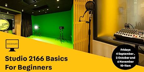 WEBINAR: Studio 2166 Basics for Beginners tickets