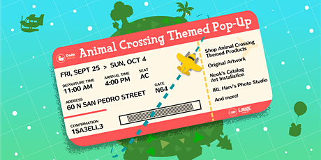 Animal Crossing Themed Pop-Up tickets