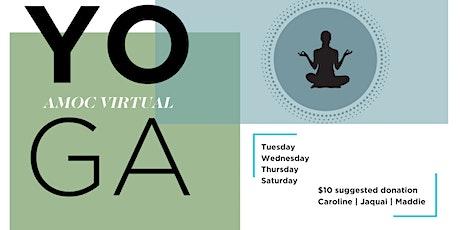 AMOC Virtual Yoga with Caroline tickets