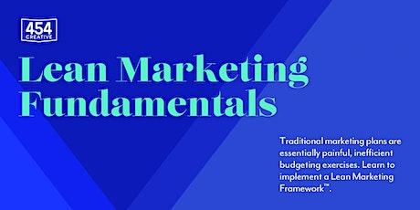 Lean Marketing Fundamentals tickets