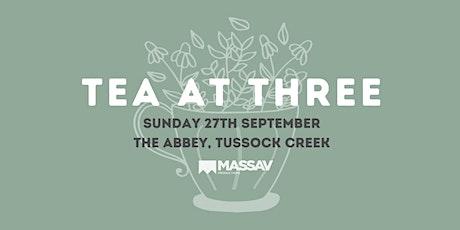 Tea at Three 2020 tickets