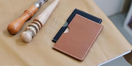 Leathercraft Workshop | Bespoke leather card holder making tickets
