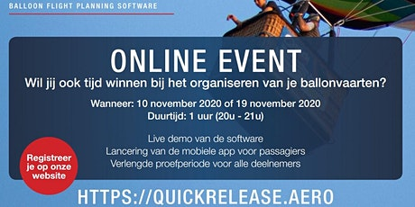 Quick Release - Online Event tickets