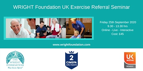 WRIGHT Foundation CIC Exercise Referral UK Virtual Seminar tickets