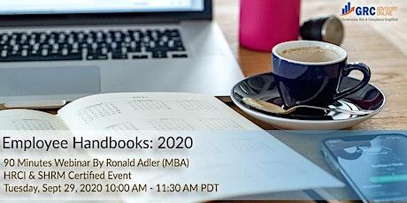 Employee Handbook 2020 tickets
