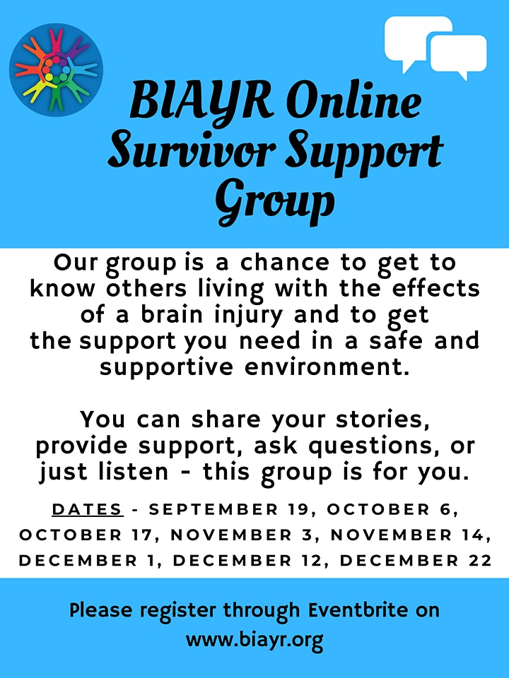 BIAYR Online Survivor Support Group 2020 image