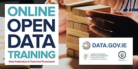 ONLINE Ireland Open Data - Data Publication & Tech Framework (Sept 2020) tickets