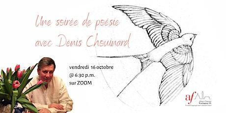 Une soirée de poésie avec Denis Chouinard tickets