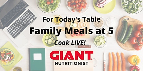 September VIRTUAL Family Meals at 5 Classes tickets