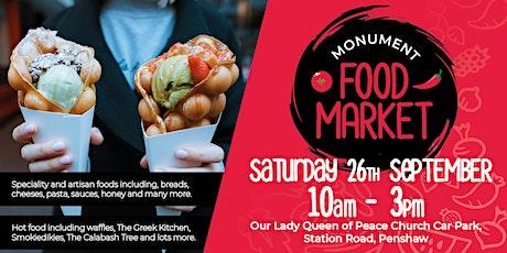 Monument Food Market - September tickets