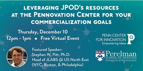 Leveraging JPOD's resources at the Pennovation Center tickets