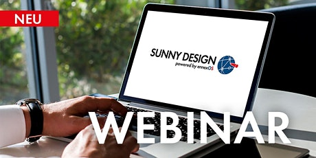 Webinar: Anlagenauslegung mit Sunny Design   28 Sep Tickets