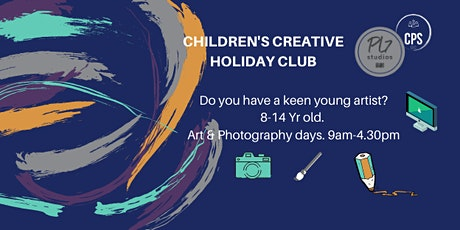 HALF TERM CREATIVE ART & PHOTOGRAPHY CLUB FOR CHILDREN AGED 8-14 YRS. tickets