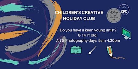 HALF TERM CREATIVE ART & PHOTOGRAPHY CLUB FOR CHILDREN AGED 8-14 YRS. tickets