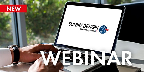 Webinar: Designing PV systems with Sunny Design | 19 Oct tickets