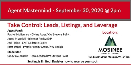 Agent Mastermind - Take Control: Leads, Listings, & Leverage tickets