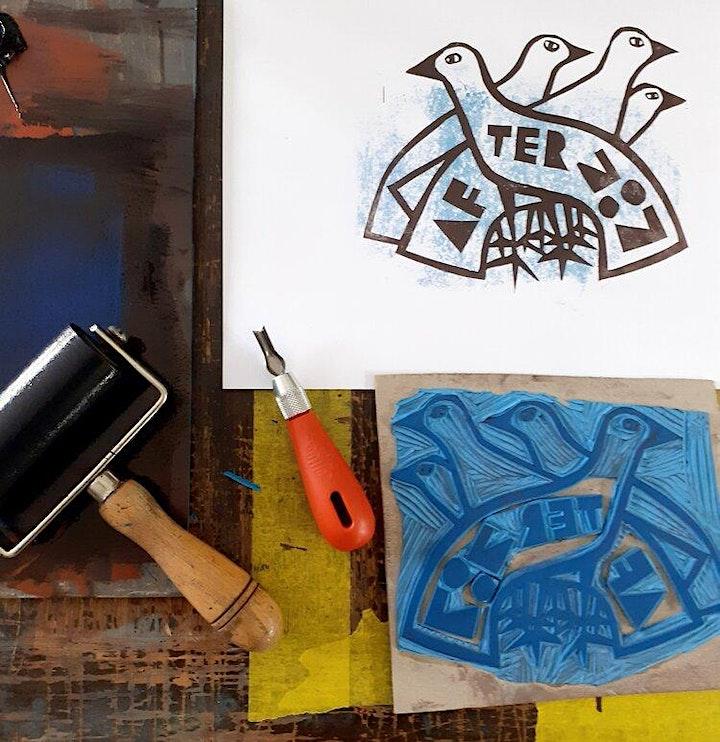 Lino Cutting with Jeb image