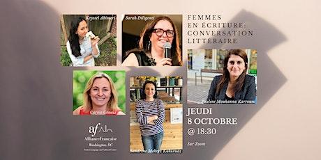 Femmes en écriture : Conversation littéraire tickets