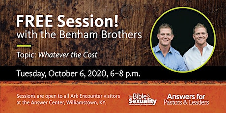 Benham Brothers at the Ark Encounter - October 6, 2020 tickets