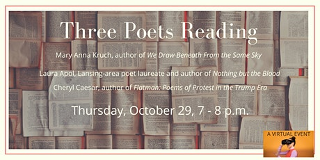 Three Poets Reading - a Zoom event tickets