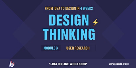 Design Thinking Workshop:  Module 3: Conducting User Research tickets