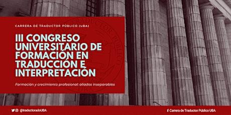 III Congreso Universitario de Formación en Traducción e Interpretación tickets