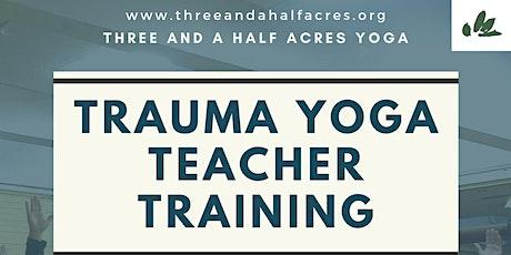 Trauma Yoga Teacher Training- East Coast tickets