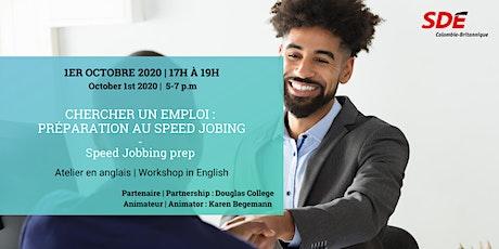 Chercher un emploi : préparation au speed jobing billets