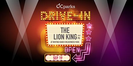 OC Parks Drive-In: The Lion King (2019) tickets