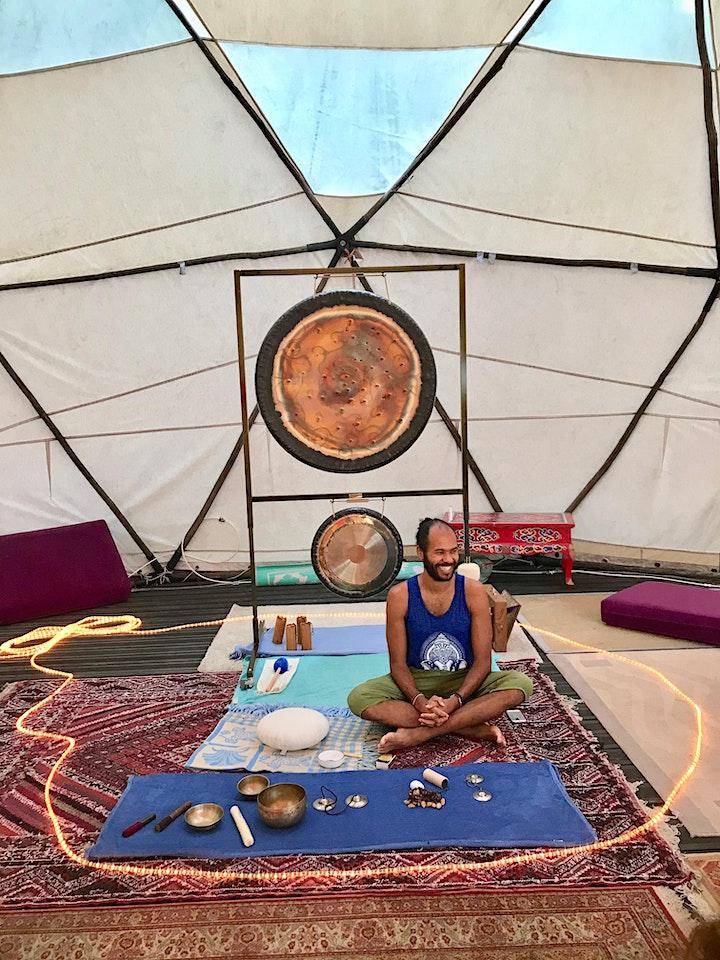 Image pour Voyage sonore – Bain de gong – Pleine lune