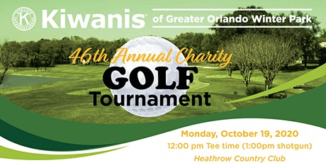 46th Annual Kiwanis Greater Orlando Winter Park Charity Golf Tournament tickets