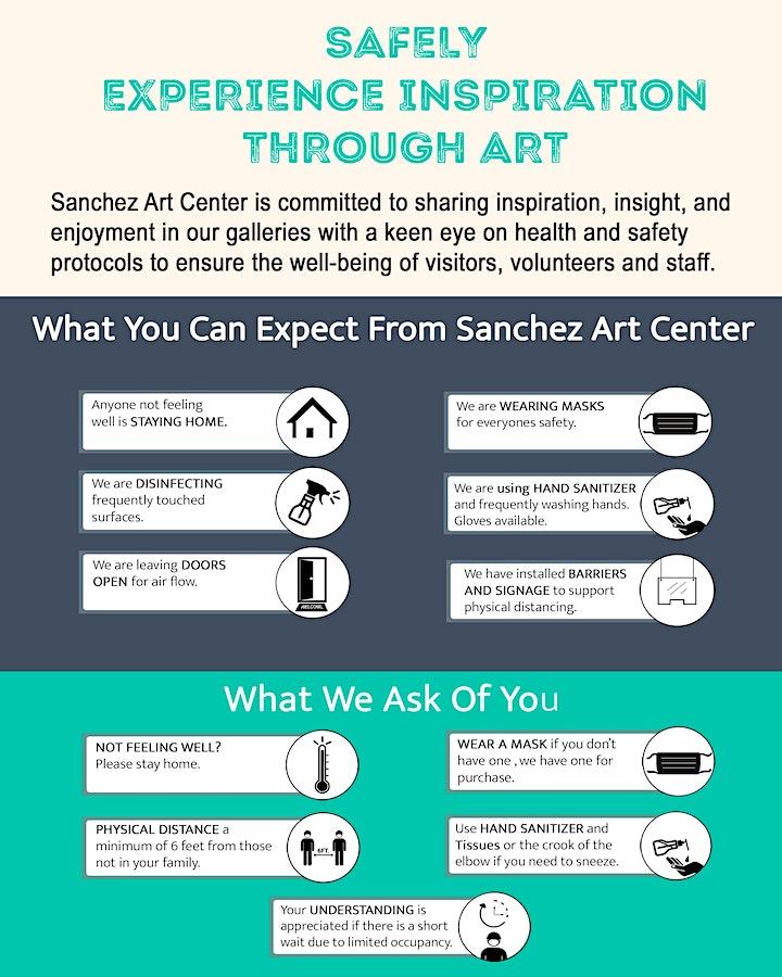 Sanchez Art Center 2020 50|50 Show Opening Weekend Fundraiser image