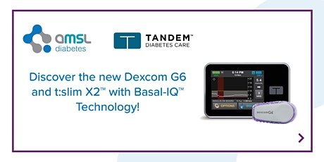 AMSL Diabetes Dexcom G6 & t:slim X2™ with Basal-IQ™ Technology  SA (15Oct) tickets