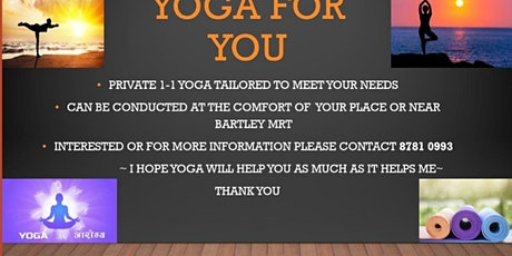 Private yoga 1-1 tickets