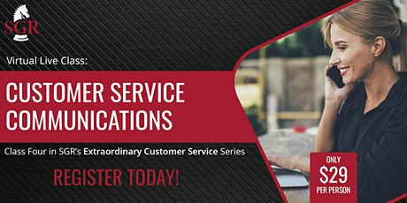 Customer Service Series 2020 (I) - Customer Service Communications tickets