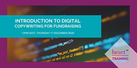 Introduction to Digital Copywriting for Fundraising tickets