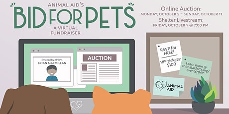 Bid For Pets: Online Auction & Shelter Livestream tickets