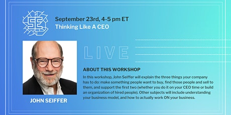 LIVE: Thinking Like a CEO tickets