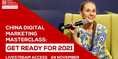 [LIVESTREAM] Ashley Dudarenok's China Digital Marketing Masterclass tickets
