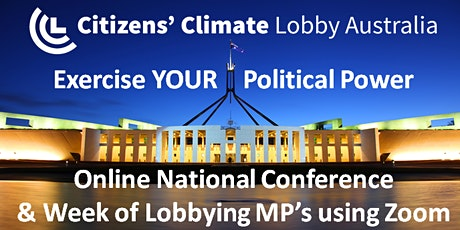 Online National Conference & Week of Lobbying MP's using Zoom tickets