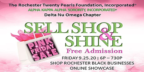 SELL, SHOP & SHINE SHOWCASE-The Rochester Twenty Pearls, Inc (Online event) tickets