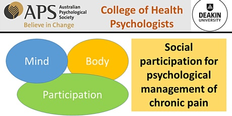 Social participation for psychological management of chronic pain tickets