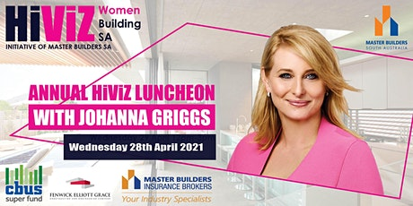HIVIZ EXCLUSIVE LUNCHEON 2021 WITH JOHANNA GRIGGS tickets