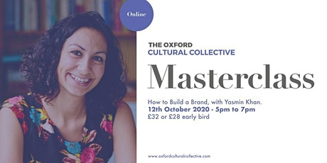 How to Build a Brand, with Yasmin Khan (an OCC Masterclass) tickets