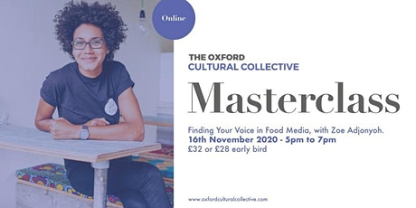 Finding Your Voice : Building a Personal Narrative, with Zoe Adjonyoh tickets