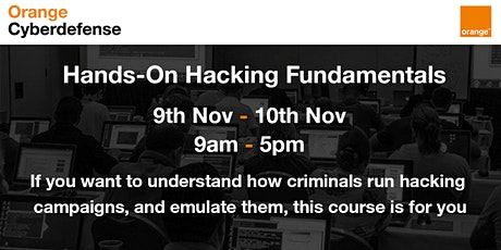 Orange Cyberdefense Virtual Trainings - Hands on Hacking Fundamentals tickets