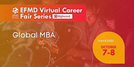Global MBA - EFMD Virtual Career Fair Series tickets