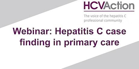 Webinar: Hepatitis C case finding in primary care tickets